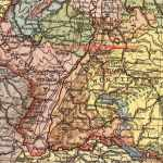 Elsass-Lothringen, Baden, Württemberg, Landkarte 1914