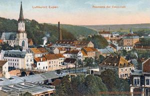 Eupen, Panorama der Unterstadt