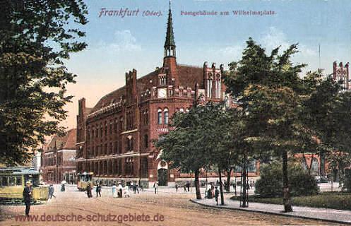 Frankfurt a. O., Postgebäude am Wilhelmsplatz