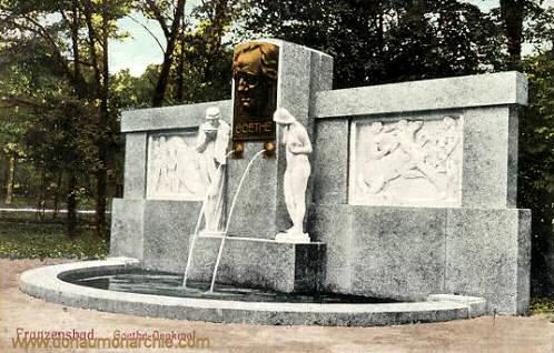 Franzensbad, Goethe-Denkmal