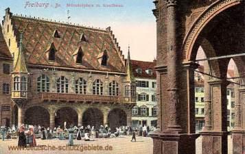 Freiburg i. B., Münsterplatz mit Kaufhaus
