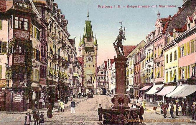 Deutsche Küche Freiburg | Freiburg Kaiserstrasse Martinstor