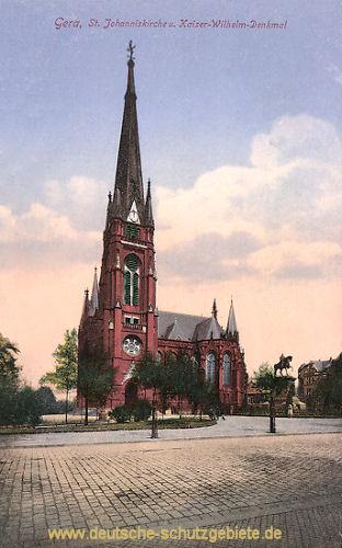 Gera, St. Johanniskirche u. Kaiser Wilhelm-Denkmal