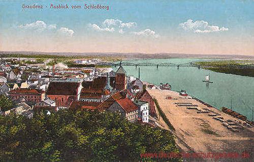 Graudenz, Ausblick vom Schlossberg