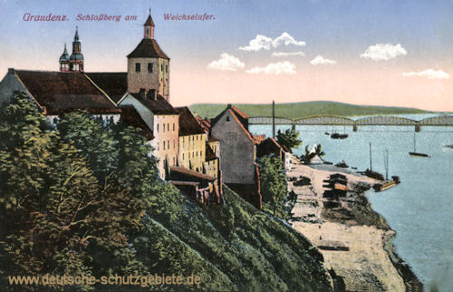 Graudenz, Schlossberg am Weichselufer