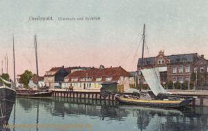 Greifswald, Uferstraße und Ryckfluss