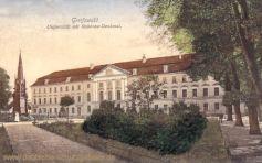 Greifswald, Universität mit Rubenow-Denkmal