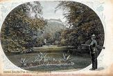 Greiz, Fürstlicher Park mit Blick nach dem Oberen Schloss
