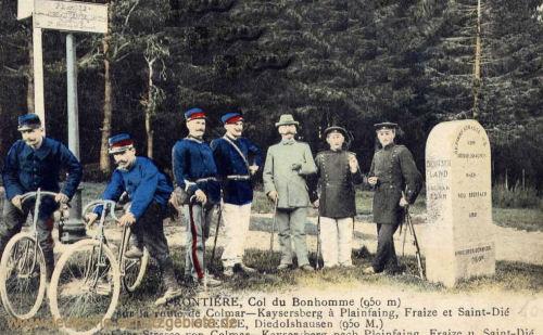 Grenze Frankreich Deutschland Diedolshausen Straße von Colmar nach Kaysersberg