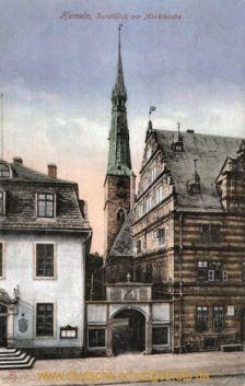 Hameln, Durchblick zur Marktkirche