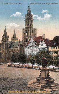 Heilbronn a. N., Kilianskirche mit Mayerdenkmal