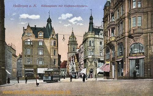 Heilbronn a. N., Kiliansplatz mit Hafenmarktsturm