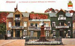 Helgoland, Denkmal Hoffmann von Fallersleben