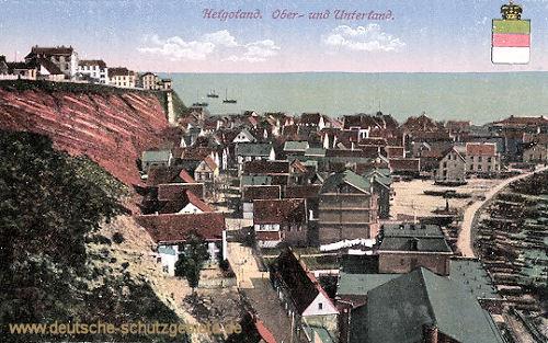 Helgoland, Ober-und Unterland