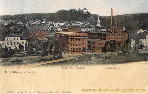Hirschberg a. Saale - Villa Knoch - Blick von Süden - Lederfabrik