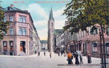 Hof i. B., Luitpoldstraße mit katholischer Kirche