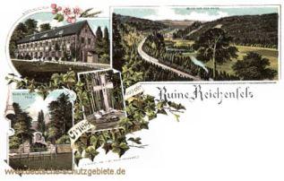 Hohenleuben, Ruine Reichenfels, Altertums-Museum, Steinernes Kreuz