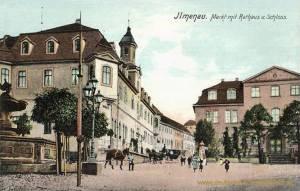 Ilmenau, Markt mit Rathaus und Schloss