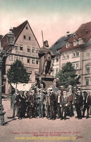 Jena, Denkmal Kurfürst der Großmütige von Sachsen (Begründer der Universität)