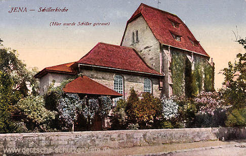 Jena, Schillerkirche (Hier wurde Schiller getraut)