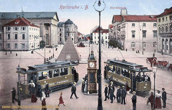 Karlsruhe i. B., Marktplatz