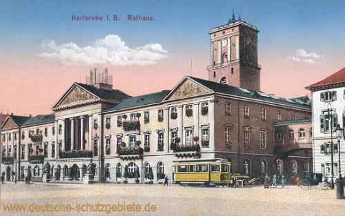 Karlsruhe i. B., Rathaus
