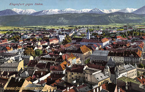 Klagenfurt gegen Süden
