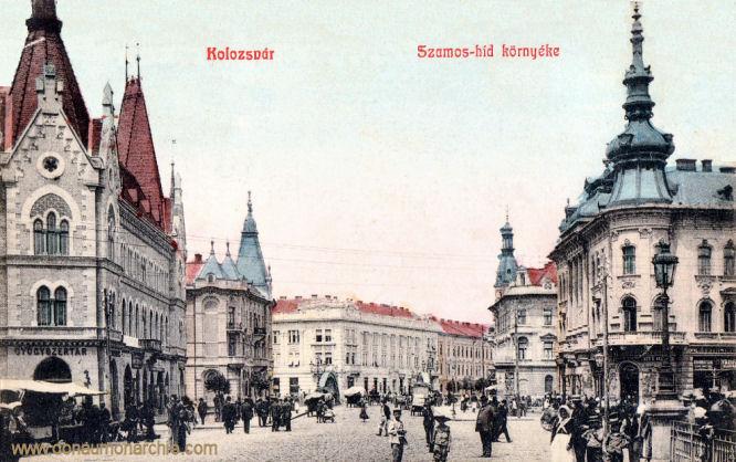 Klausenburg (Kolozsvár - Cluj) - Szamos-híd környéke (Bereich der Szamos-Brücke)
