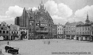 Konitz, Marktplatz mit Rathaus