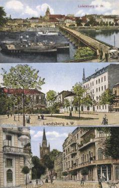 Landsberg a. W., Moltkeplatz, Friedebergerstraße