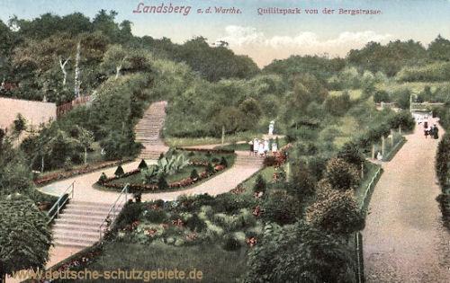 Landsberg a. W., Quilitzpark von der Bergstraße