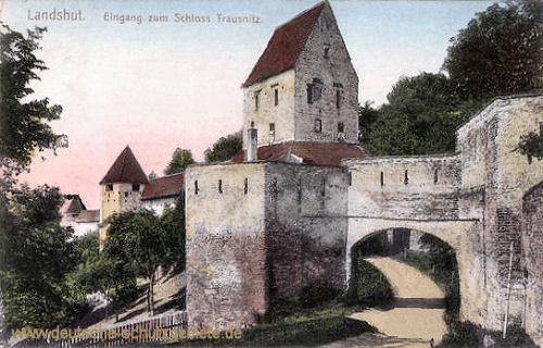 Landshut, Eingang zum Schloss Trausnitz