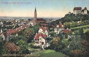 Landshut mit Blick auf Burg Trausnitz