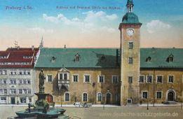 Freiberg i. Sa., Rathaus und Denkmal Otto des Reichen