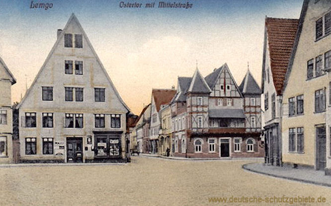 Lemgo, Osttor mit Mittelstraße