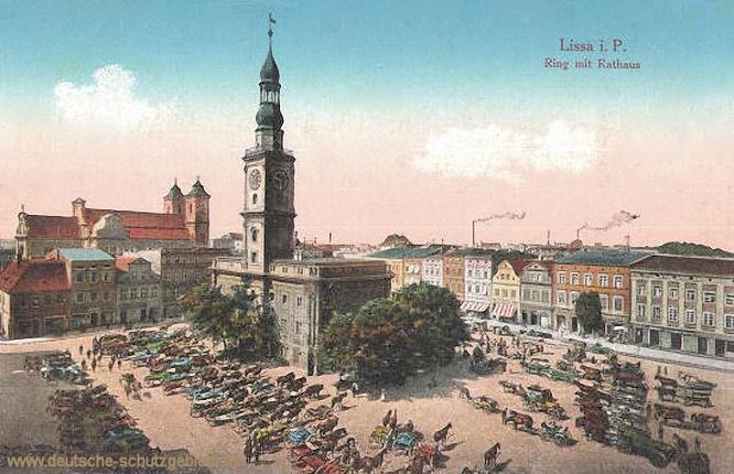 Lissa i. P., Ring mit Rathaus