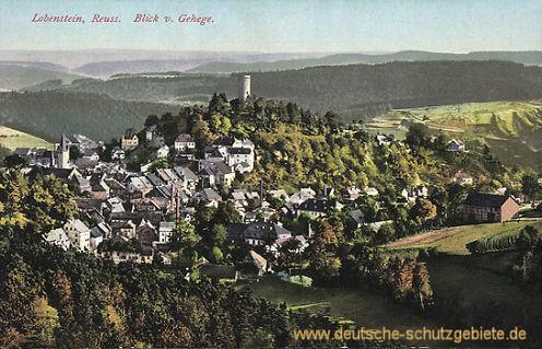 Lobenstein, Reuss. Blick vom Gehege