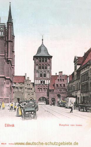 Lübeck, Burgtor von innen