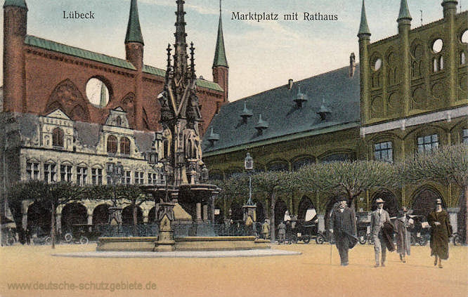 Lübeck, Marktplatz mit Rathaus