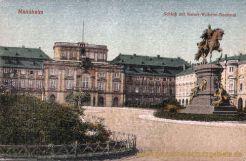 Mannheim, Schloss mit Kaiser-Wilhelm-Denkmal