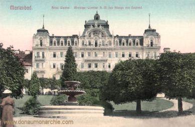 Marienbad, Hotel Weimar, Absteige-Quartier des Königs von England