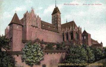 Marienburg, Wpr., Blick auf das Schloss