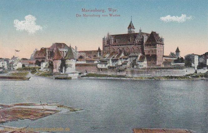 Marienburg, Die Marienburg von Westen