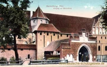 Marienburg, Wpr., Eingang zur Marienburg