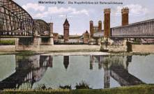 Marienburg, Wpr., Nogatbrücke mit Buttermilchsturm
