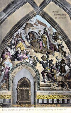 Einzug Conrands des Großen von Wettin in die Markgrafenburg zum Meißen 1127
