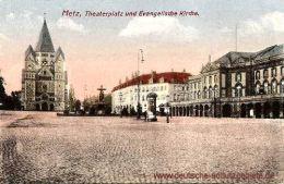Metz, Theaterplatz und Evangelische Kirche