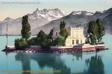 Montreux, Ile de Salagon et Dents du Midi