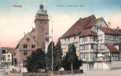 Mosbach, Rathaus und Palm'sches Haus