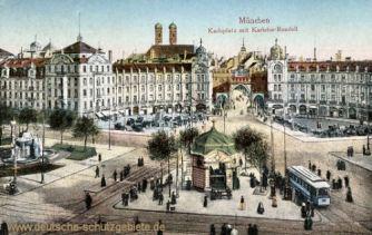 München, Karlsplatz mit Karlstor-Rondell